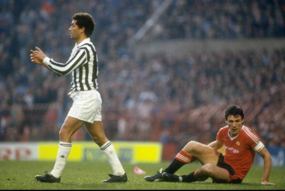 Claudio Gentile all'Old Trafford contro il Manchester United