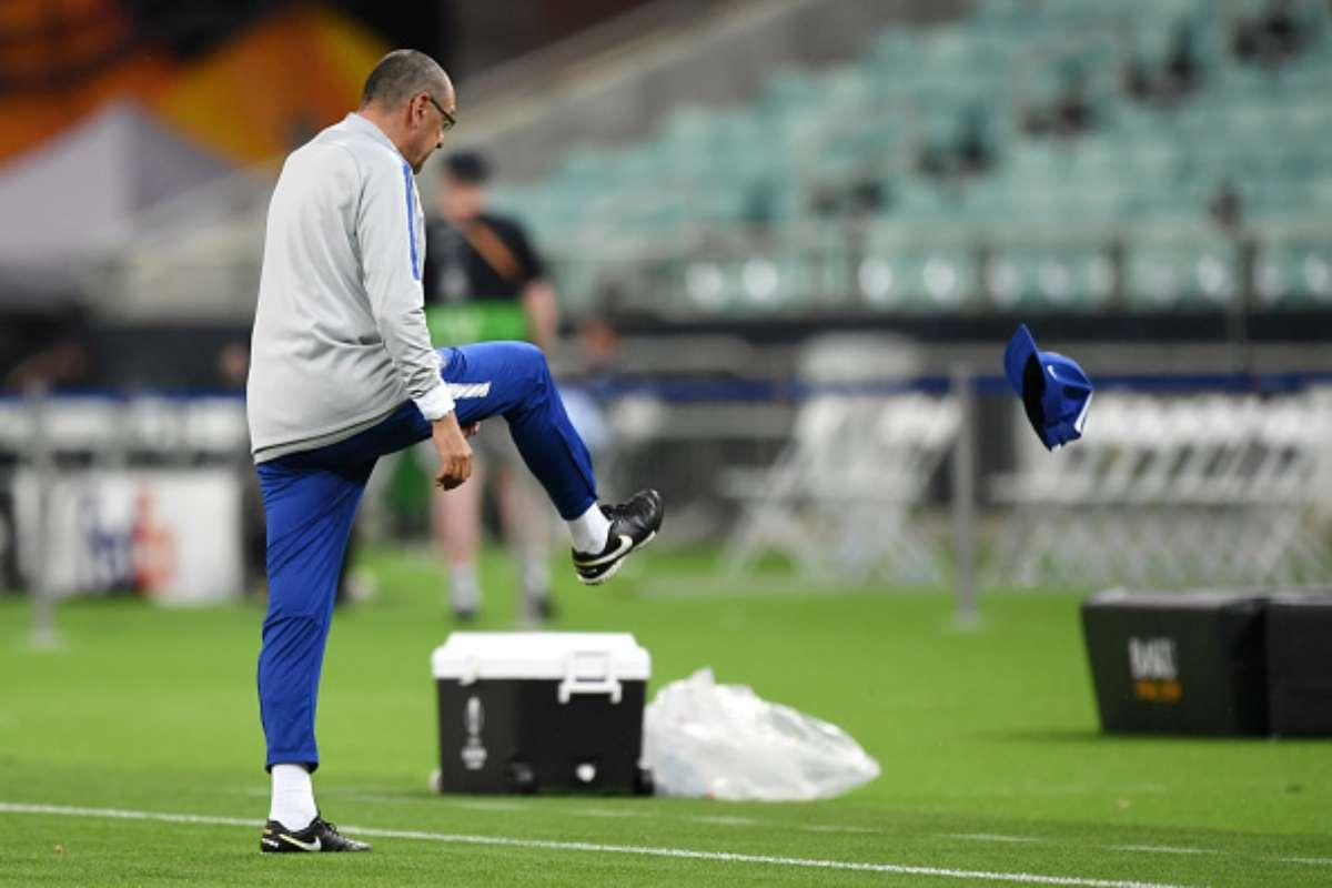 Higuain-Luiz Sarri Chelsea