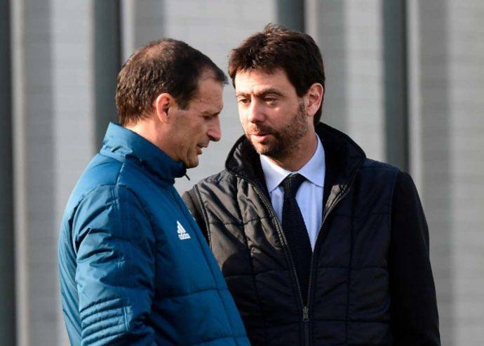 Massimiliano Allegri e Andrea Agnelli discutono del futuro