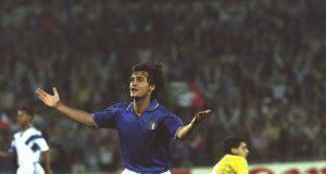 Giannini esulta ai Mondiali 90