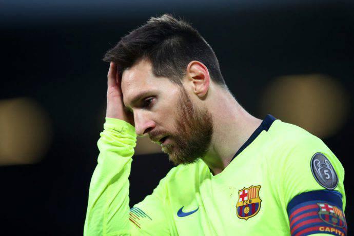 Messi non si capacita del 4-0 subito a Liverpool
