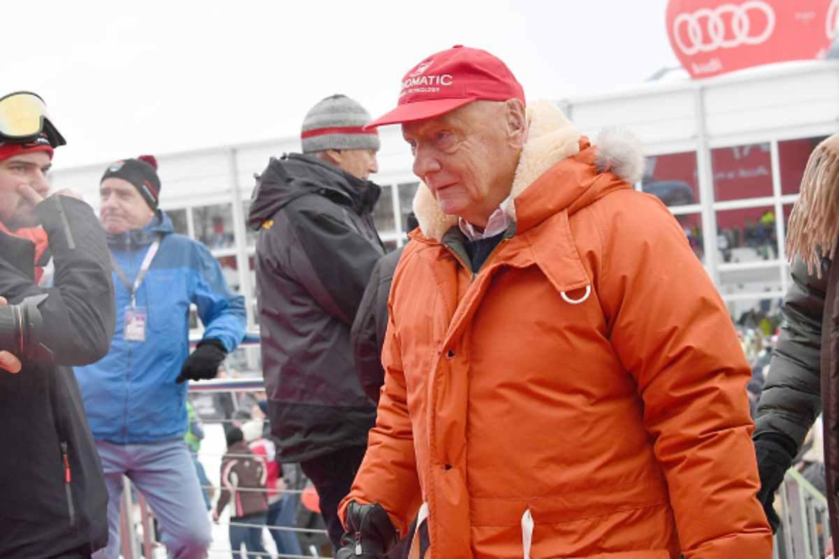 Niki Lauda ex campione di Fiormula Uno