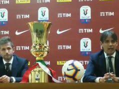 Simone Inzaghi e Senad Lulic in conferenza stampa finale Coppa Italia