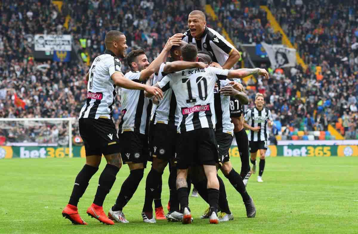 Probabile formazione Udinese contro la Sampdoria
