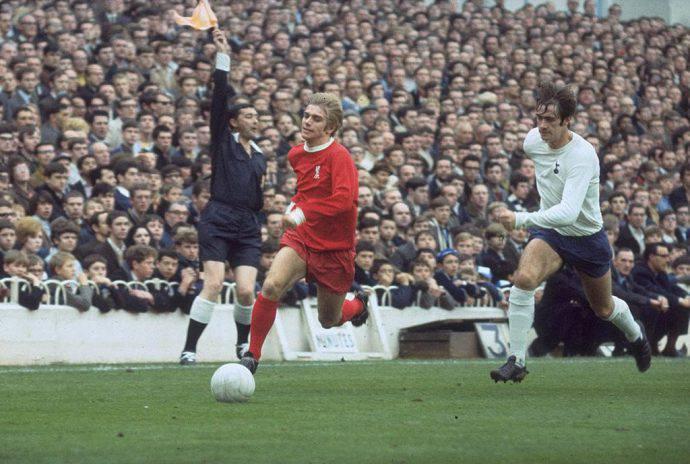 Uno scatto vintage di Tottenham-Liverpool