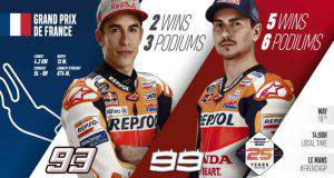 marc marquez jorge lorenzo MotoGP Francia Le Mans