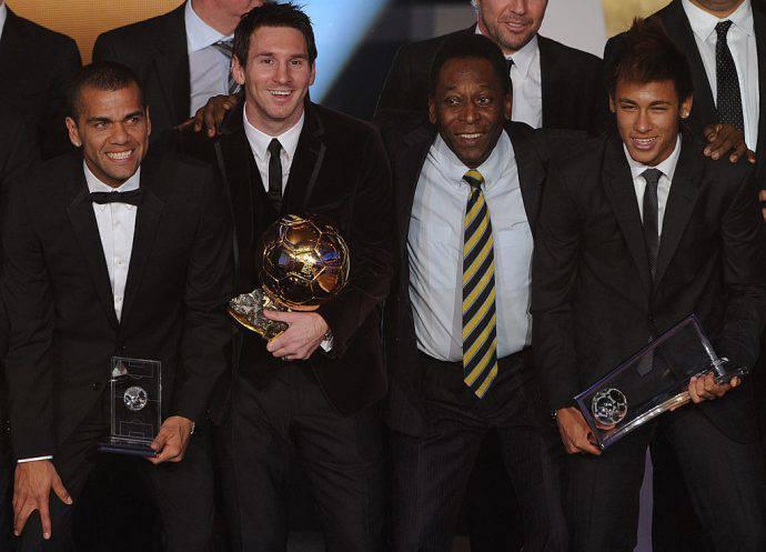 Dani Alves, Messi, Pelé e Neymar