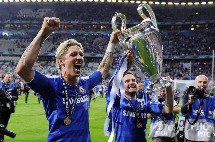 Delirio Champions nel 2012 con il Chelsea