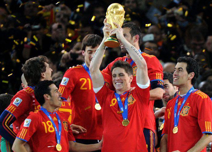 Fernando Torres sul tetto del mondo nel 2010