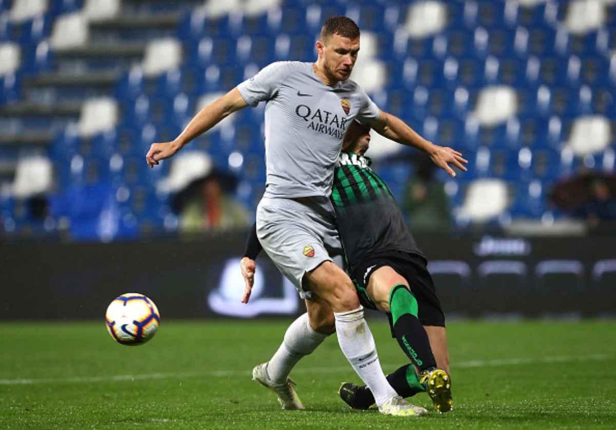 Dzeko Roma Tottenham