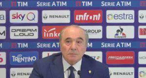 Il neo presidente della Fiorentina, Commisso si presenta alla stampa