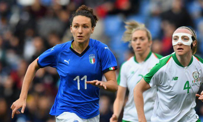 Ilaria Mauro contro la nazionale irlandese