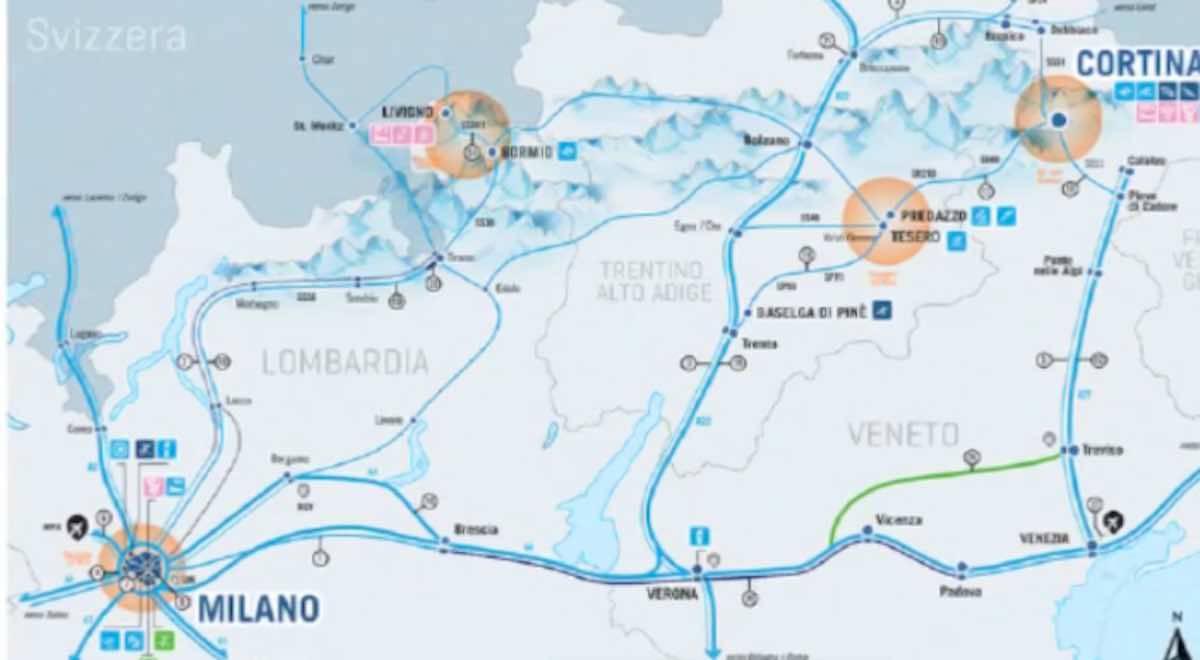 La mappa delle Olimpiadi 2026