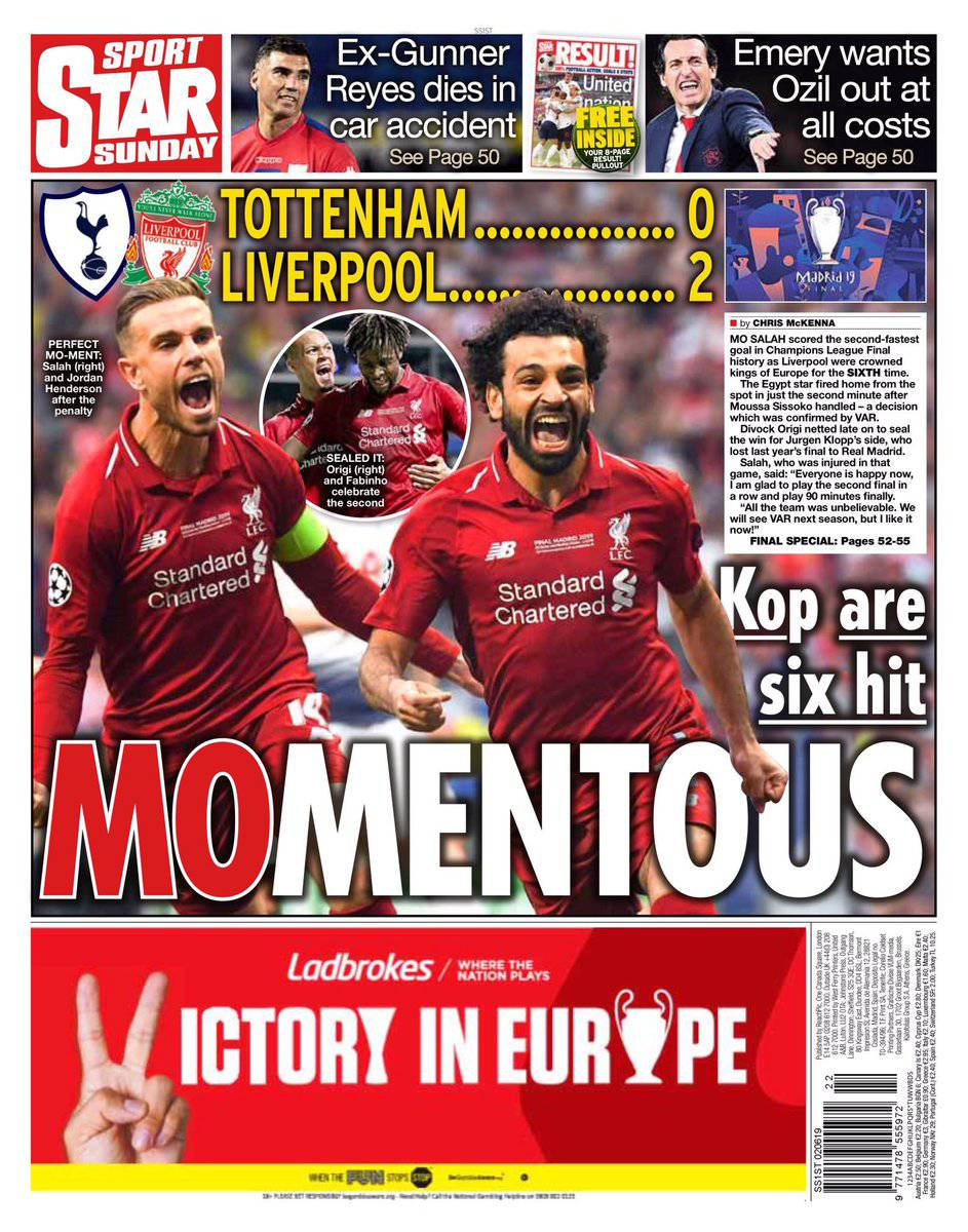 Liverpool stampa Champions League
