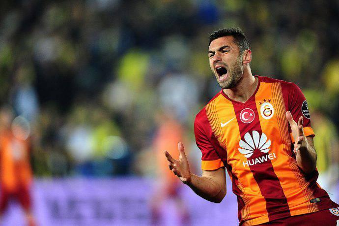 Burak Yilmaz con il Galatasaray