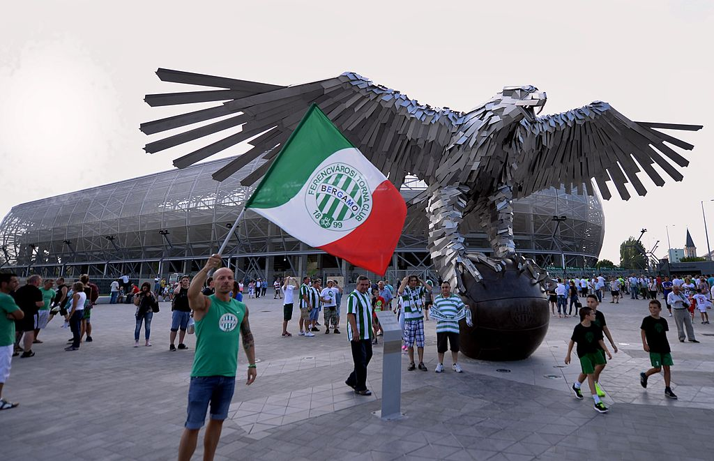 I caldi tifosi del Ferencvaros