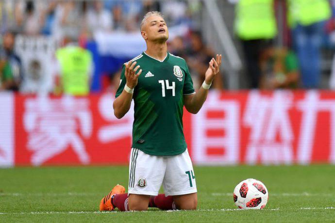 Il messicano Chicharito nel 2018 in Russia