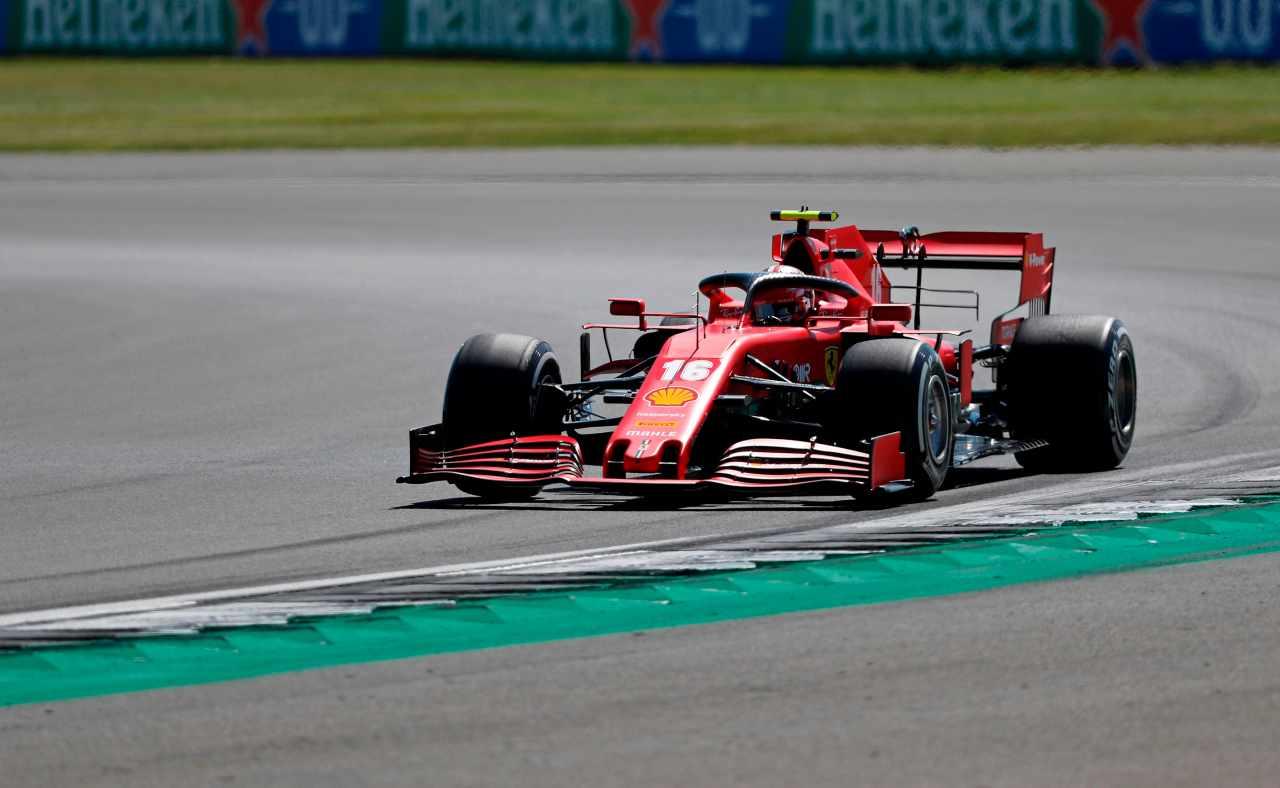 Leclerc nelle prove libere di Silverstone