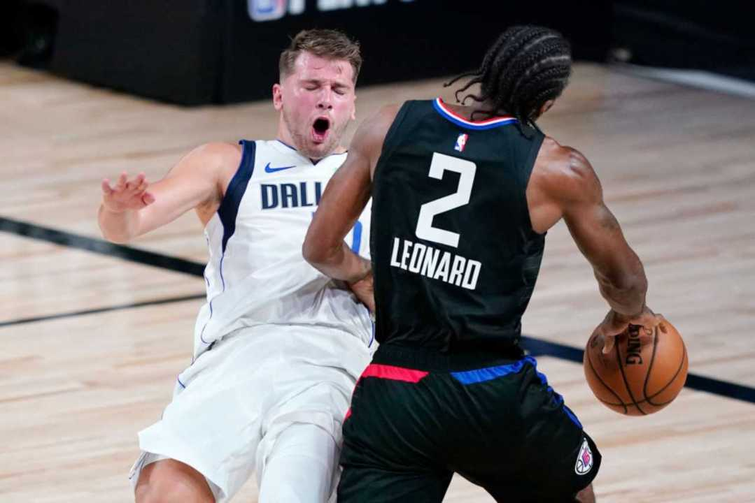 Doncic contro Leonard (Getty Images)