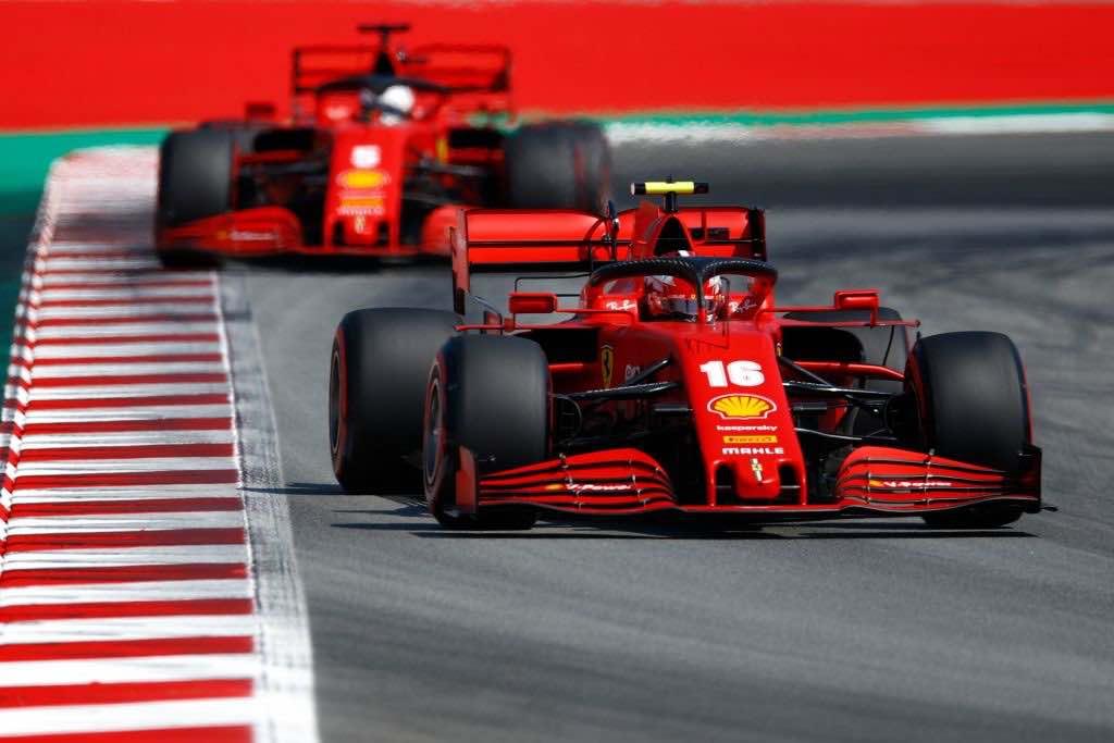 Ferrari in difficolta al via del Gp di Spagna