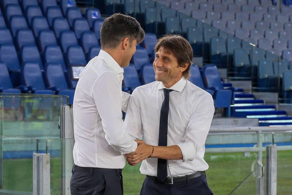Fonseca e Conte si salutano prima di Roma Inter