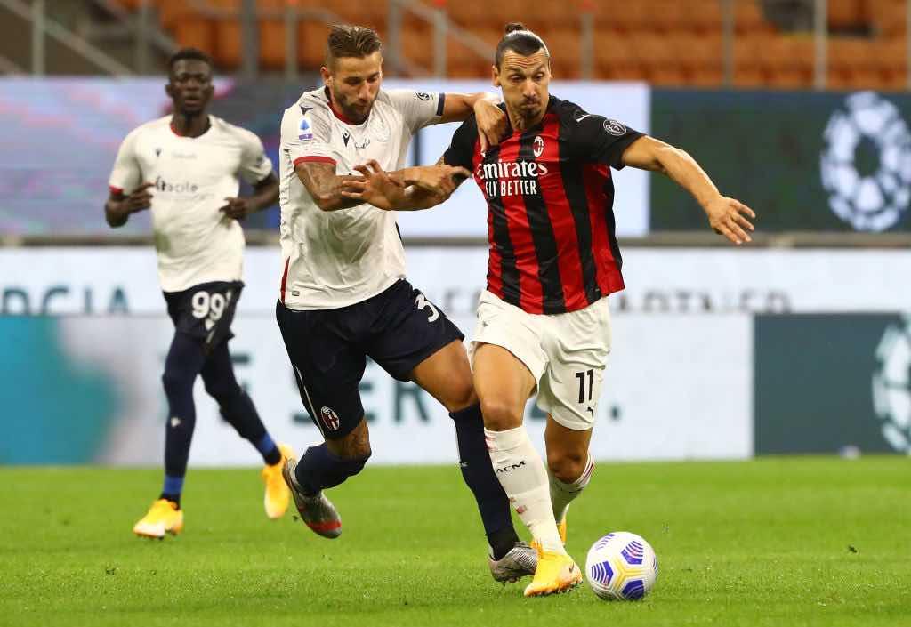 Milan Bologna doppietta di Ibrahimovic