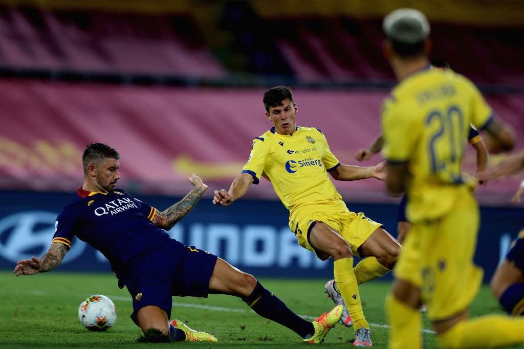 hellas verona pessina gol contro la Roma