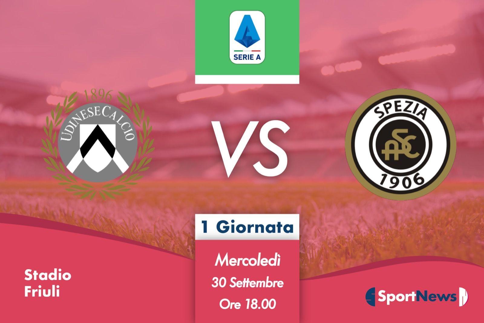 Serie A | Recupero 1ª giornata: Udinese-Spezia. Probabili formazioni, dove vederla in tv e streaming
