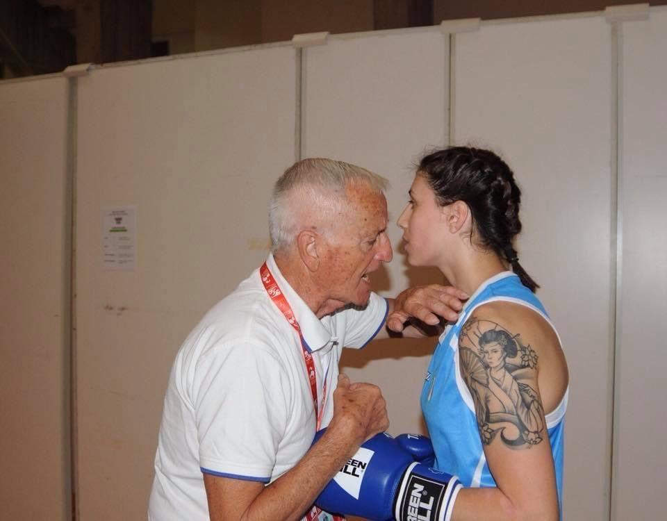 Irma Testa con il coach Zurlo