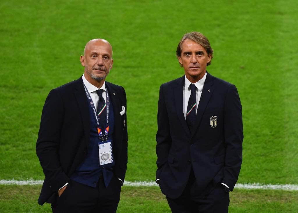 Mancini il c.t dell'Italia e Vialli collaboratore