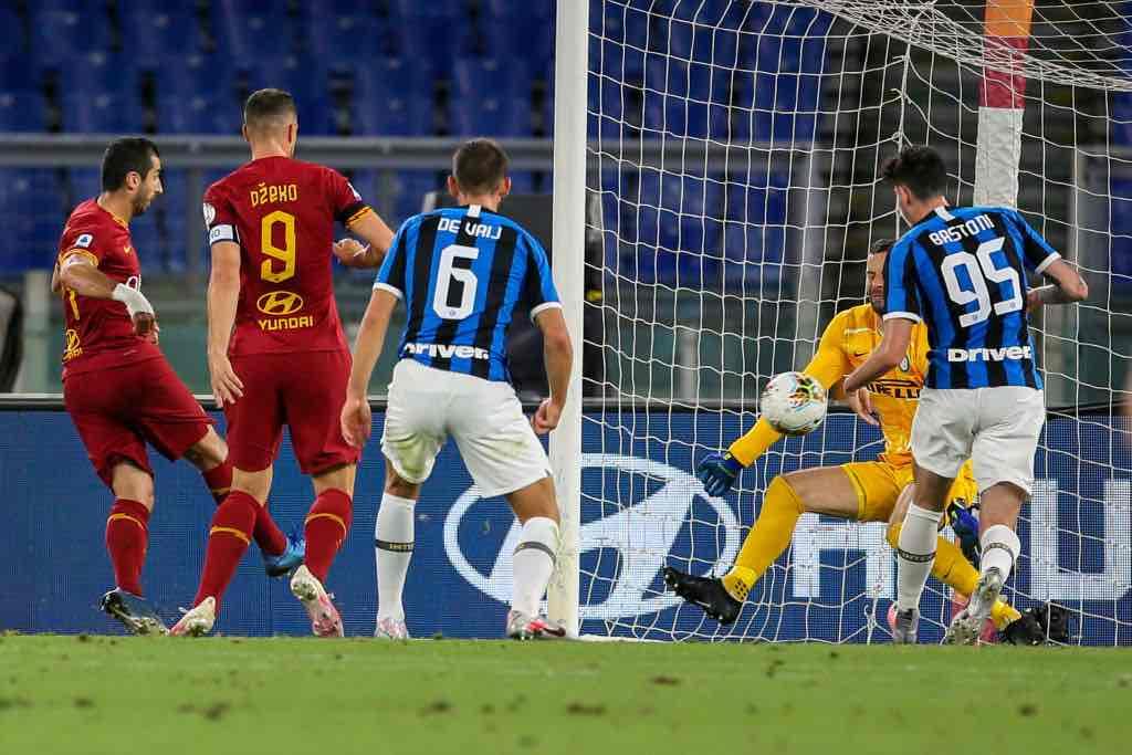 a.s. Roma gol vantaggio contro Inter