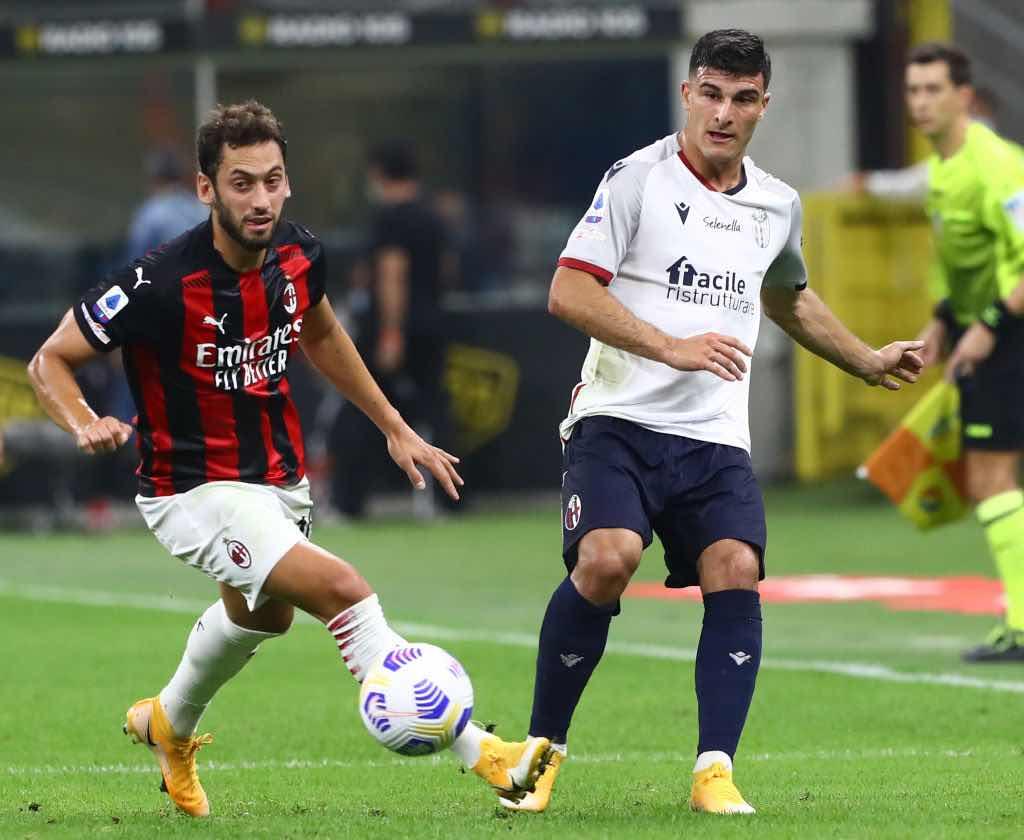 Milan Bologna 2-0 prima giornata di serie A