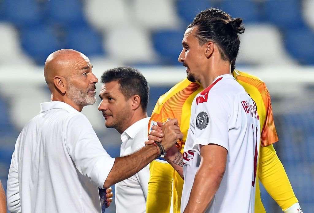 Pioli ed Ibrahimovic