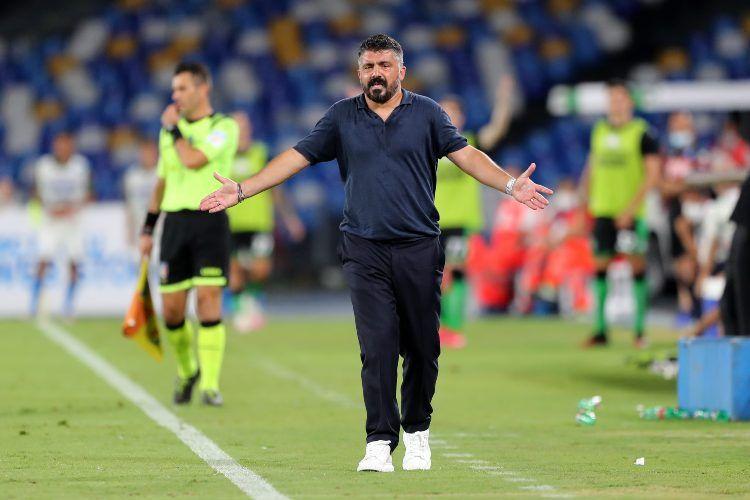 Napoli-Lazio, la rissa verbale tra Gattuso e il fisioterapista Maggi