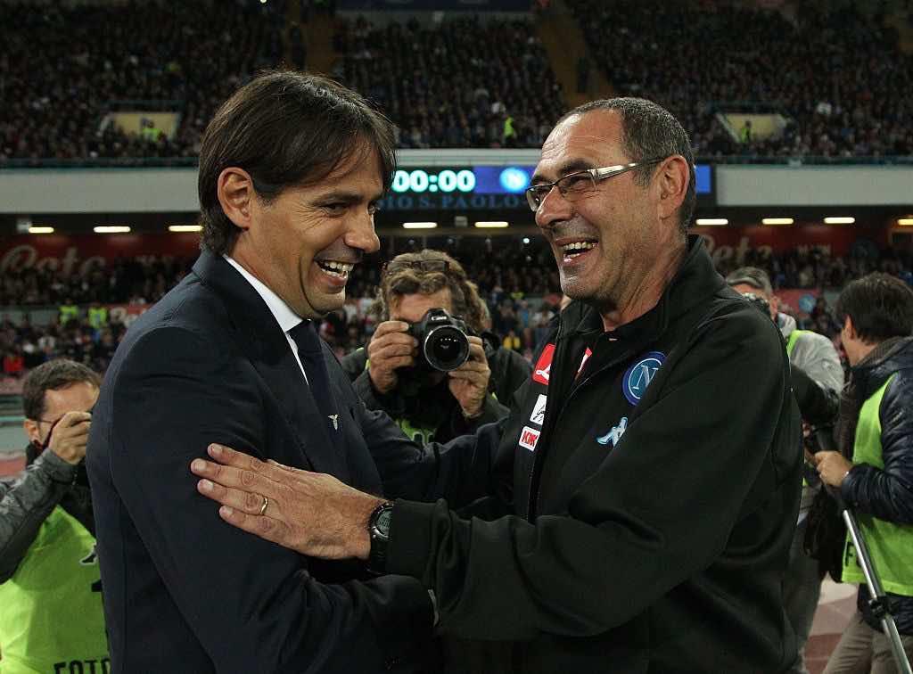 Sarri e Inzaghi prima di Juventus Lescce