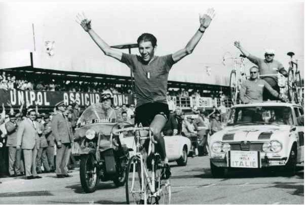 Vittori Adorno vincitore del modiale ciclismo Imola 1968