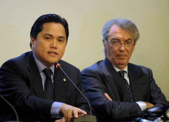 Erik Thohir e Massimo Moratti, presente e passato dell'Inter