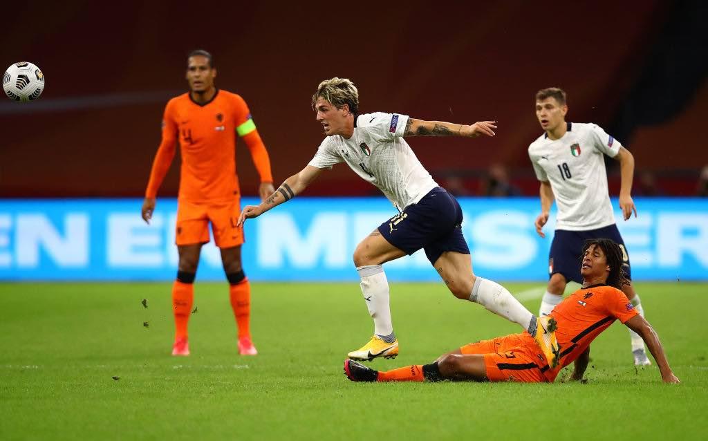 Zaniolo infortunato al 42esimo del primo tempo di Olanda-Italia, la seconda giornata della Nations League