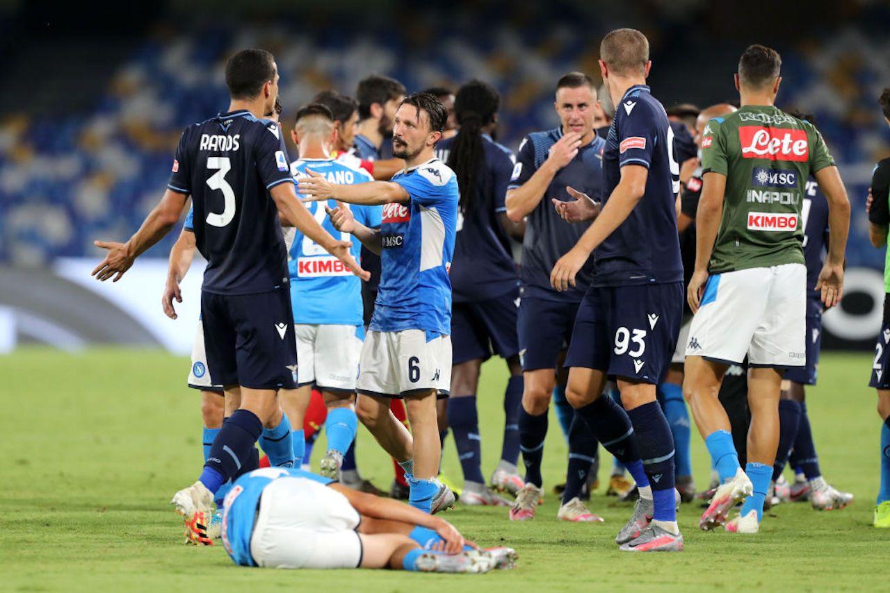 Rissa tra giocatori e insulti tra allenatori: cosa è successo in Napoli-Lazio
