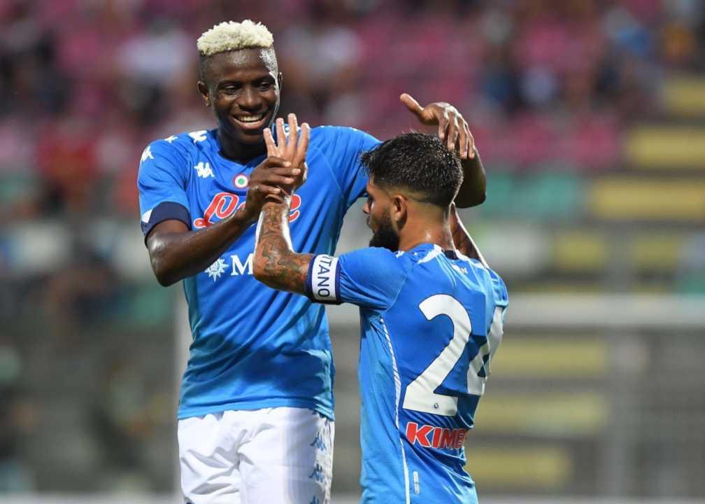Insigne e Osimhen con la maglia del Napoli