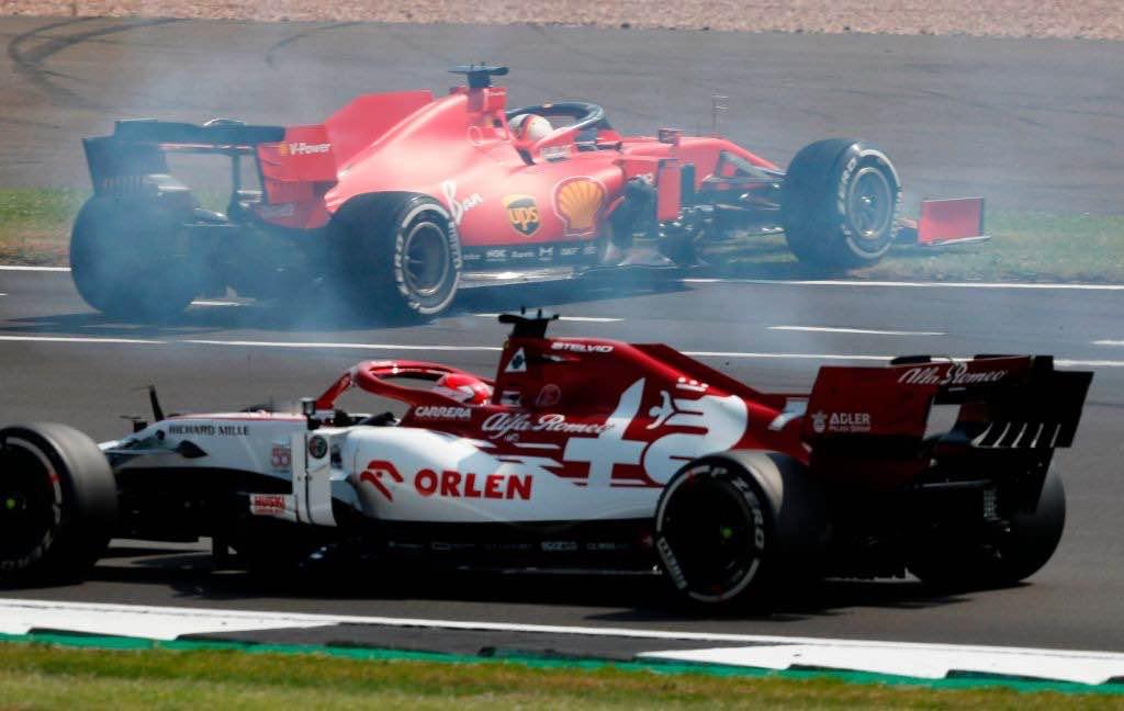 Testacoda di Vettel al Gp di Silverstone