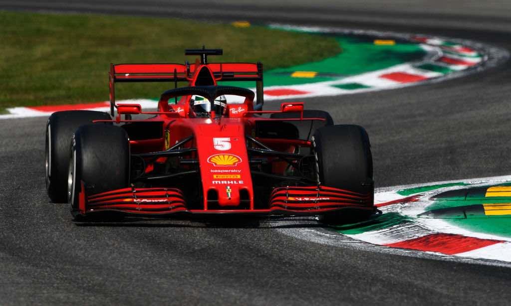 Vettel fouri dal Gp d'Italia al settimo giro Leclerc si schianta al 29esimo
